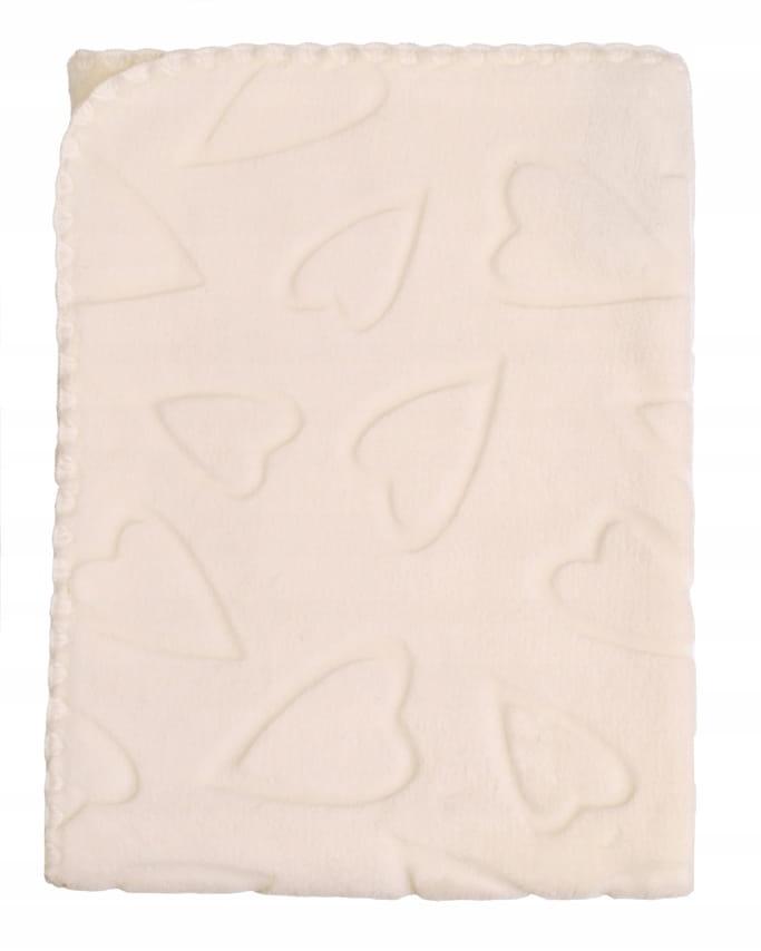 DuetBaby Kocyk Velur tłoczony 80 x 90 cm beżowy