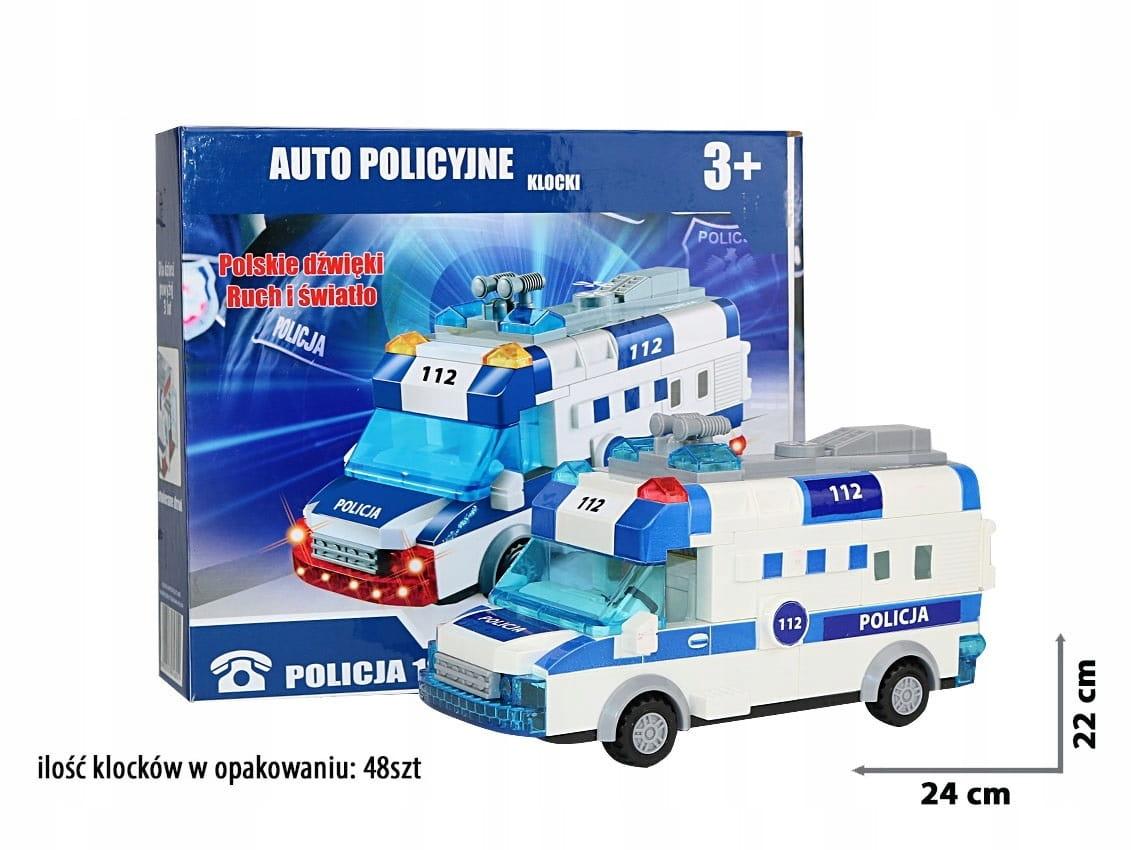 Klocki Zestaw Radiowóz Policja 48 elementów 3+