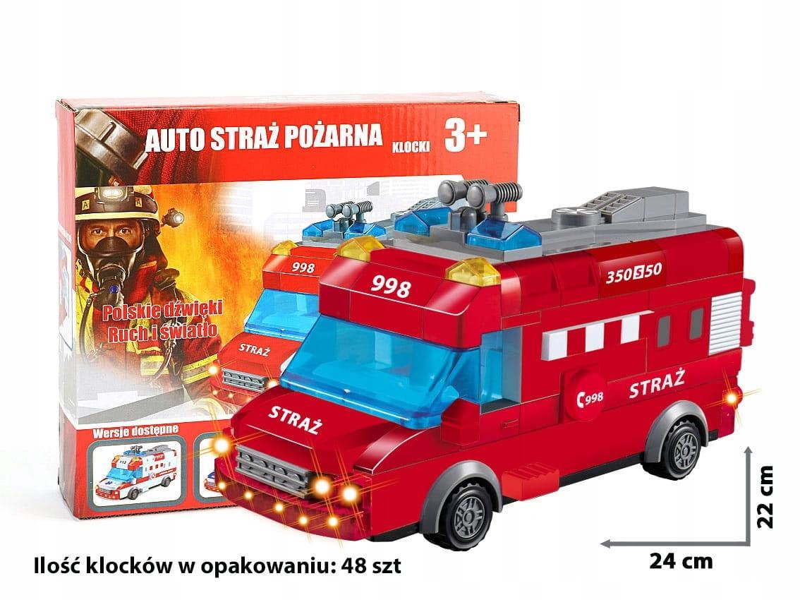 Klocki Zestaw Straż Pożarna 48 elementów 3+