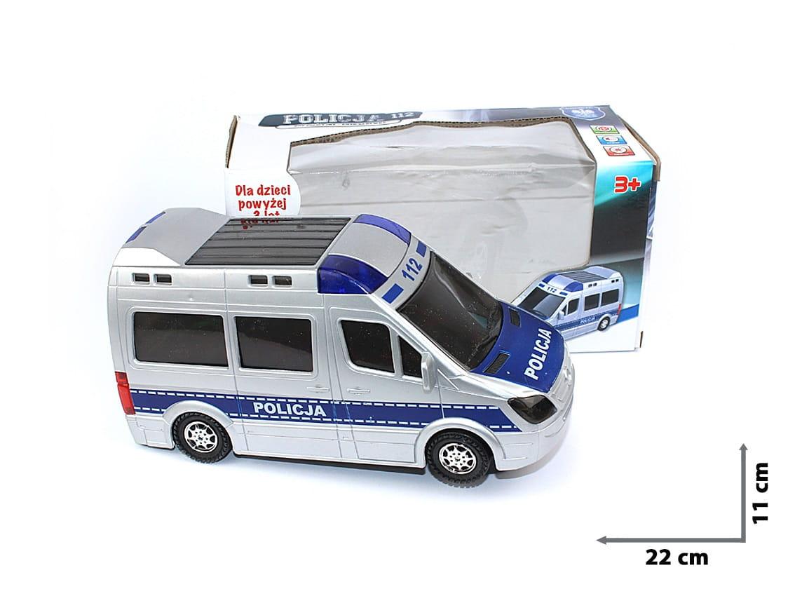 Auto POLICJA radiowóz Mercedes Światło Dźwięk PL