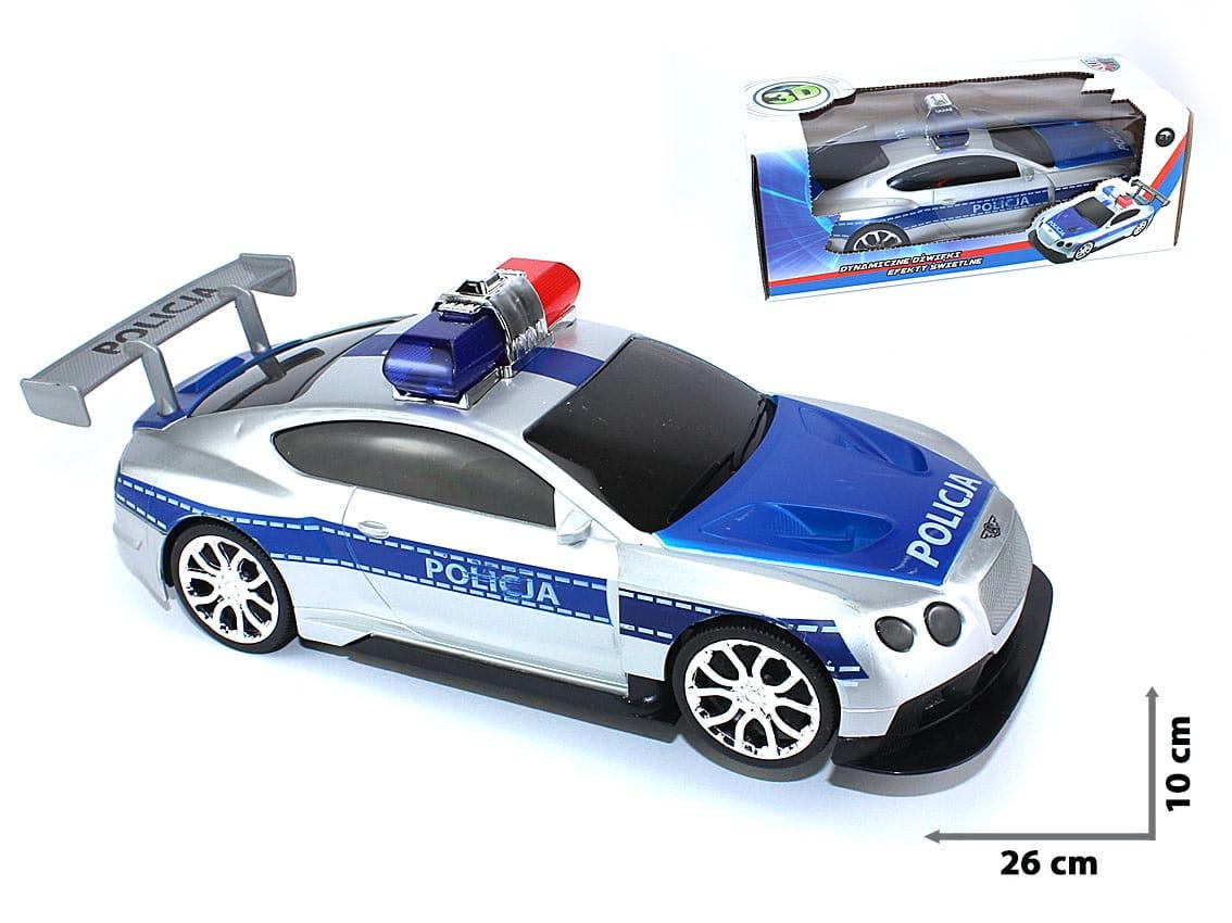 Auto POLICJA radiowóz Bentley Światło Dźwięk PL
