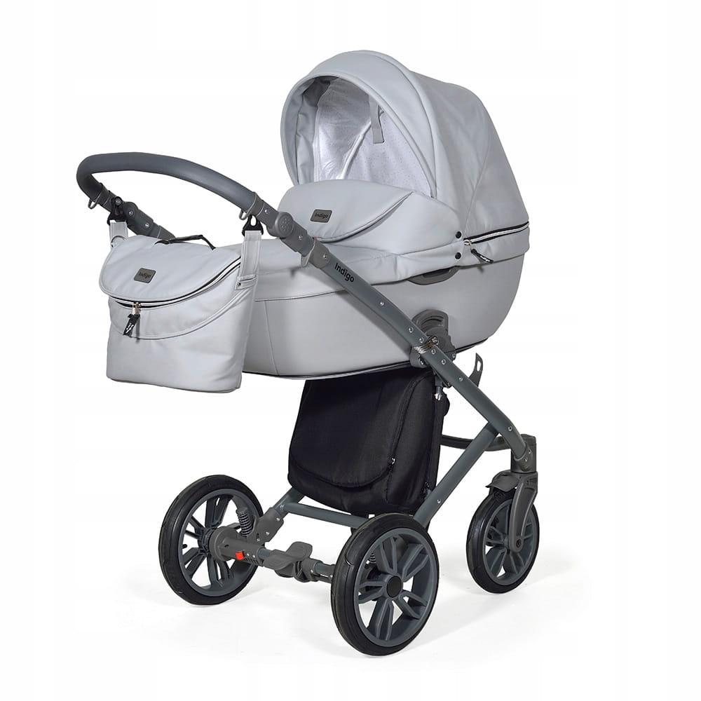 Wózek Dziecięcy 3w1 INDIGO Marco Light Grey